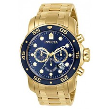 Invicta Men's Pro Diver Collection Chronograph 18k Gold-Plated Watch with Link Bracelet - 0073