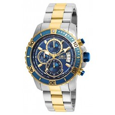 Invicta Men's Pro Diver Quartz Watch with Stainless-Steel Strap, Two Tone, 22 (Model: 22415)