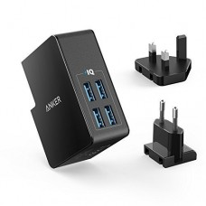 Anker 27W PowerPort 4 Lite 4-Port USB Wall Charger Black