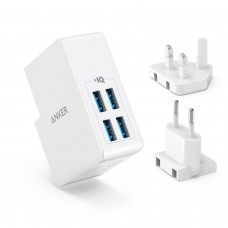 Anker 27W PowerPort 4 Lite 4-Port USB Wall Charger - White