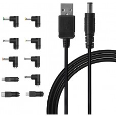 IBERLS Universal 5V DC Power Cable, USB to DC Plug Charging Cord with 10 Connector
