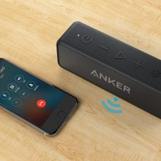 Anker SoundCore 2 Portable Bluetooth Speaker 24-Hour Playtime, 66ft Bluetooth Range, IPX5 Water Resistance & Built-in Mic