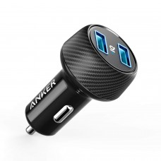 Anker 24W PowerDrive 2 Elite Car Charger with PowerIQ
