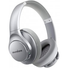 Anker Soundcore Life Q20 Hybrid Active Noise Cancelling Headphones with 40H Playtime - Silver