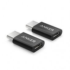 Anker Micro USB to USB C Adapter [2 in 1 Pack] Converts Micro USB Female to USB C Male