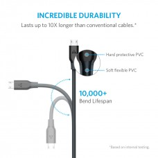 Anker PowerLine Micro USB (3ft) Gray with over 10,000 bends lifespan