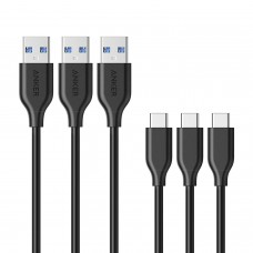 Anker Powerline USB-C to USB 3.0 Cable (3ft) - [3 Pack]