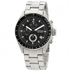 Fossil Men's Decker Analog-Quartz Watch with Stainless-Steel Strap, Silver, 22 (Model: CH2600IE)