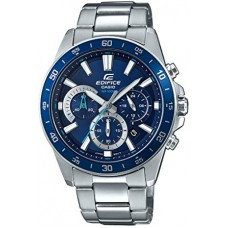 Casio Men's Edifice Quartz Watch with Stainless-Steel Strap - Silver, 21.6 (Model: EFV-570D-2AVUDF)