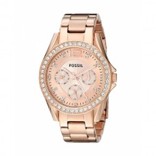 Fossil Women's Riley Stainless Steel Multifunction Glitz Quartz Watch - ES2811