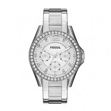 Fossil Women's Riley Stainless Steel Multifunction Glitz Quartz Watch - ES3202