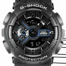Casio G-Shock X-Large Display Stealth Black Watch (GA110-1B)