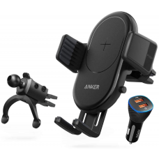 Anker 2-in-1 Fast Wireless Charger and Car Mount SmartCharge Wireless with Air Vent Phone Holder