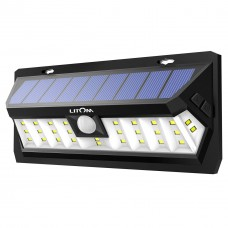 LITOM 30 LED Solar Motion Sensor Lights Wireless Solar Security Lights
