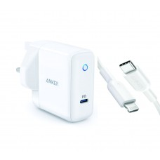 Anker 30W PowerPort Speed with Power Delivery with PowerLine II USB C to Lightning Cable 3ft (Combo)