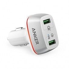 Anker PowerDrive+ 2 Car Charger with Quick Charge 3.0 - White