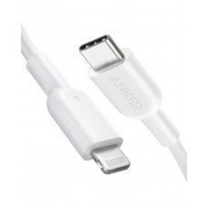 Anker PowerLine II USB C to Lightning Cable [3ft/0.9m Apple MFi Certified] - White