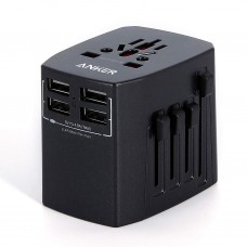 Anker 40W Universal Travel Adapter With 4USB Ports Black