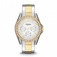 Fossil Women's Riley Stainless Steel Multifunction Glitz Quartz Watch - ES3204